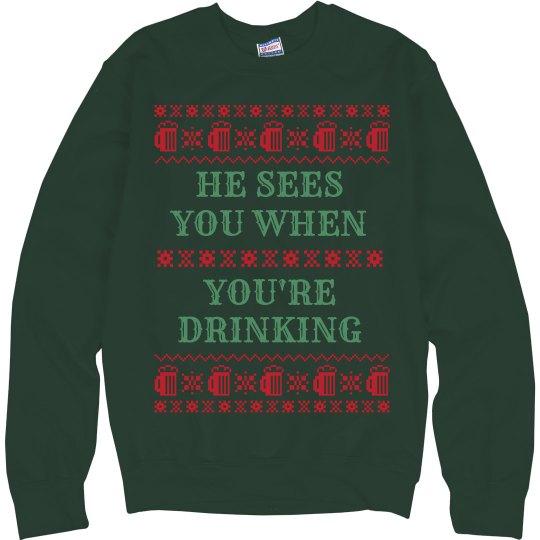 Santa Sees You Drinking