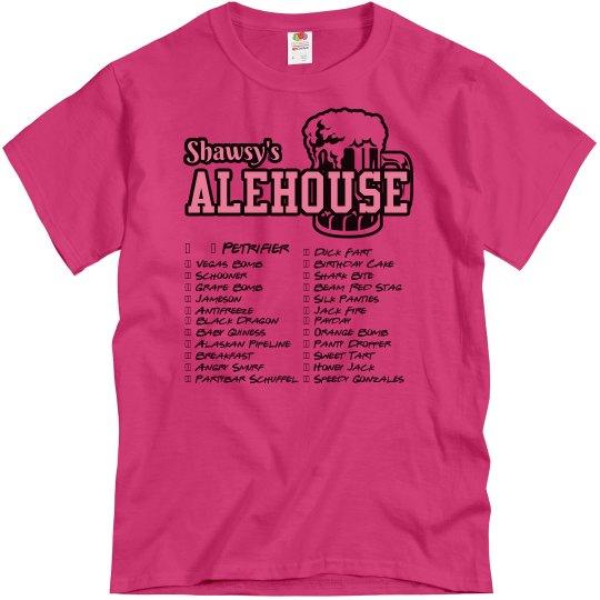 Shot Club Check-off Tshirt (Pink)