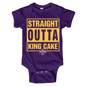 Straight Outta King Cake Onesie