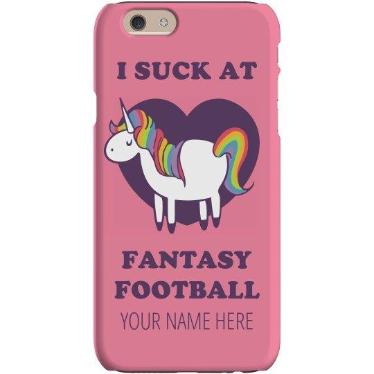 Suck At Fantasy Football Case