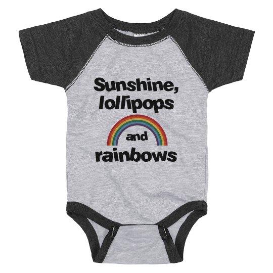 Sunshine, lollipops and rainbows - infant onesie
