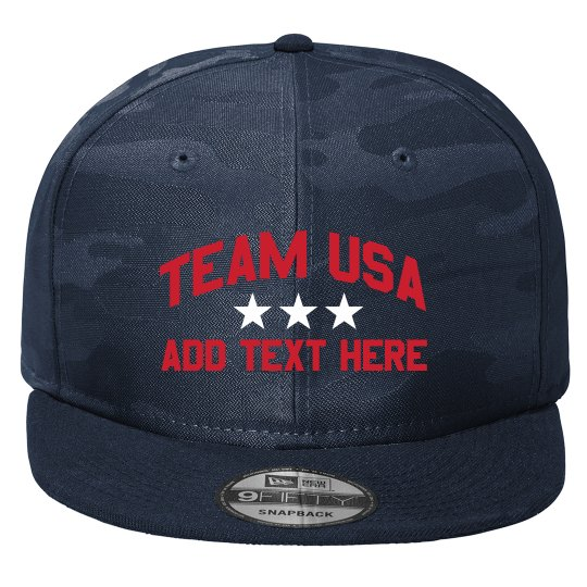 Team USA Custom Text Hat