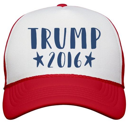 Text Trump 2016 Hat