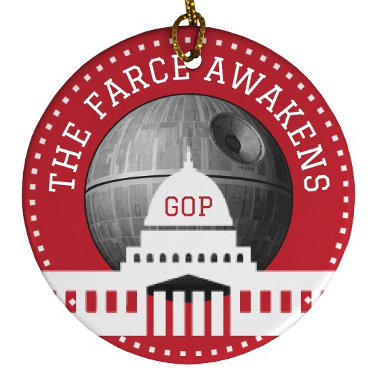 The Farce Awakens Trump Ornament