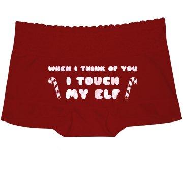Touch My Elf Naughty Xmas Underwear