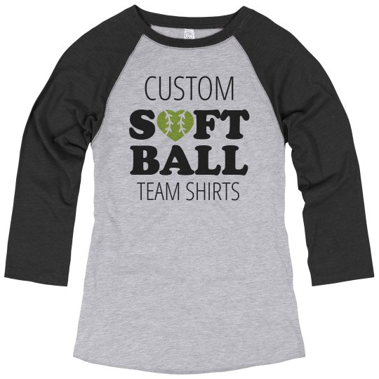 Trendy Custom Softball Team Tees
