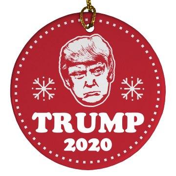 Trump 2020 Christmas Ornament