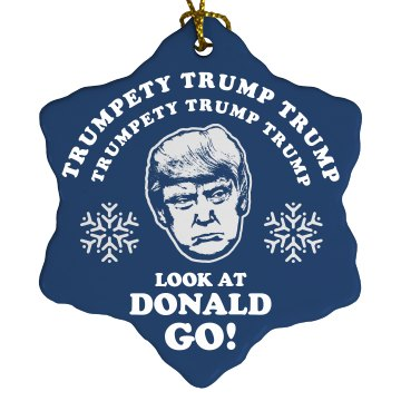 Trump Christmas Ornament Frosty