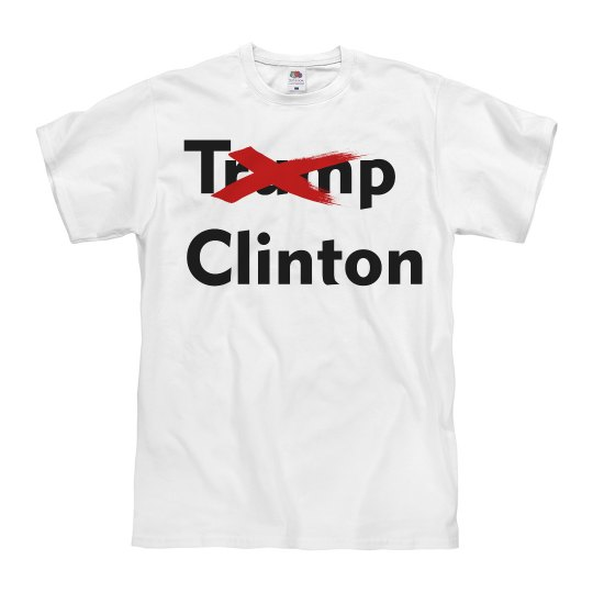 Trump Clinton Crossed Out