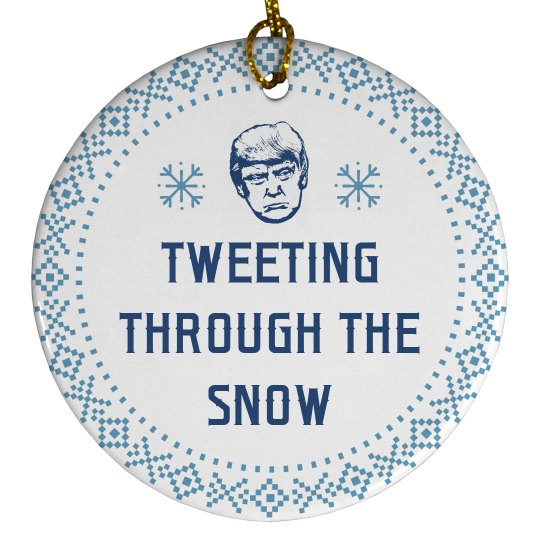 Trump Tweeting Through The Snow