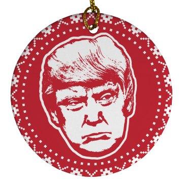 Trump's Big Face Political Ornament