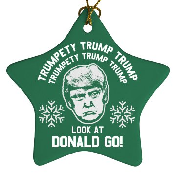 Trumpty Trump Trump Xmas Ornament