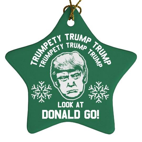 Trumpty Trump Trump Xmas Ornament