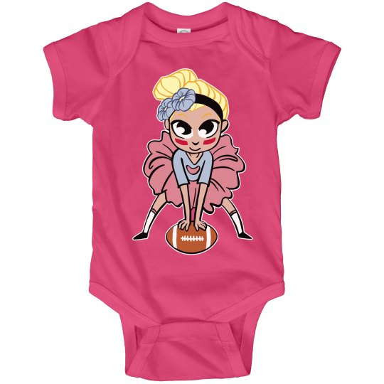 Tutu Football Girl Onsie