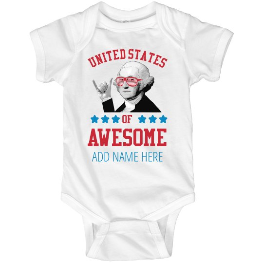 US Of Awesome Custom Baby Onesie