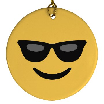 Very Cool Emoji Ornament