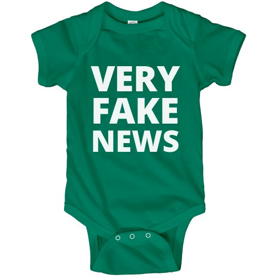 Very Fake News Funny Political Baby