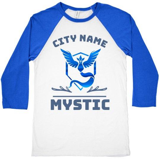 Vintage Metallic Custom Team Mystic Raglan