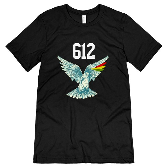 Wings Up 612 Jersey Tee