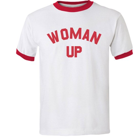 Woman UP Trendy Ringer Tee