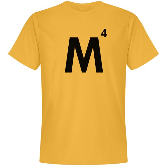 Word Games Costume, Letter Tile M