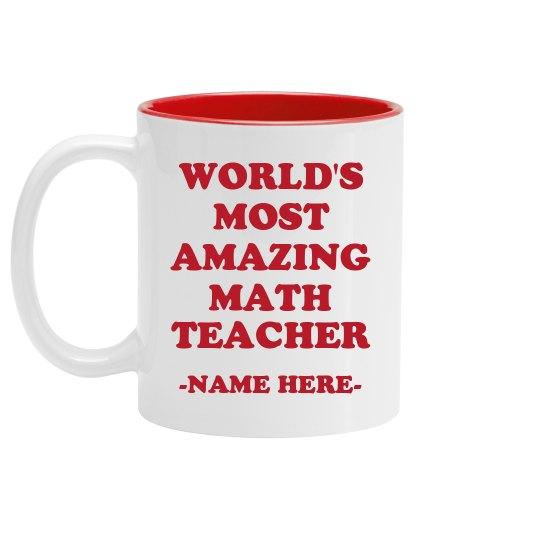 World's Custom Best Teacher Mug