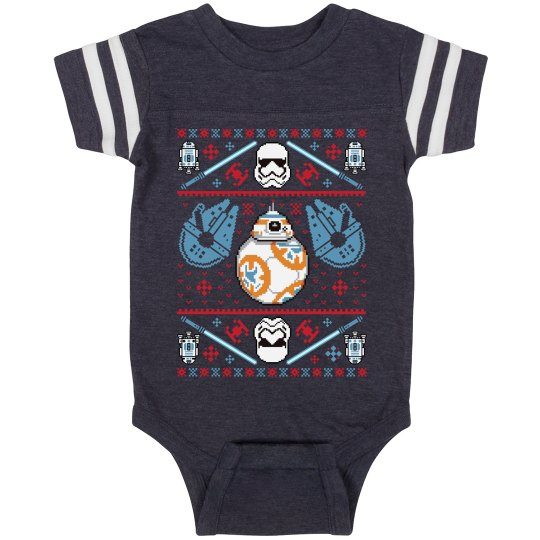 Xmas Space Baby Bodysuit