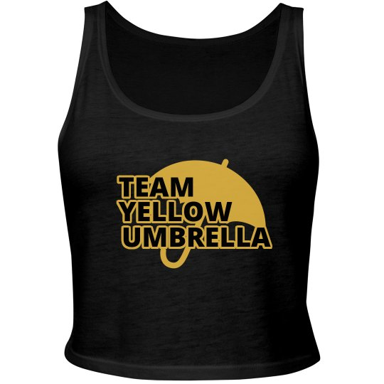 Yellow Umbrella Crop Top