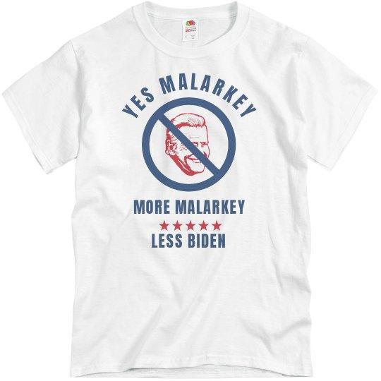 Yes Malarkey Anti-Biden Tee