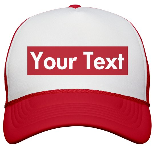 Your Text Parody Supreme Hat