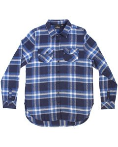 Ladies Burnside Long Sleeve Plaid Flannel Shirt