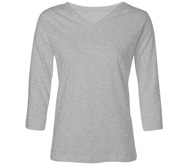 LAT Apparel Ladies Relaxed Fit V-Neck 3/4 Sleeve Tee