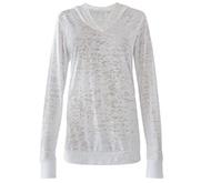 Misses Burnout Hooded T-Shirt