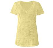 Junior Fit Burnout V-Neck T-Shirt