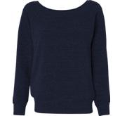 Bella + Canvas Ladies Relaxed Fit Triblend Wideneck Sweatshirt