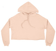 Bella + Canvas Ladies Relaxed Fit Cropped Fleece Hoodie