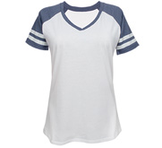 District Made Ladies Relaxed Fit V-Neck Sports Tee