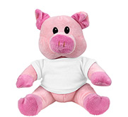Steven Smith  7.5 Inch Pink Piggie Stuffed Animal