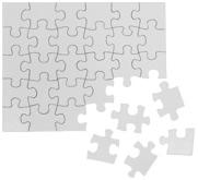 Coastal Business Supplies 30 Piece Rectangle Cardboard Jigsaw Puzzle