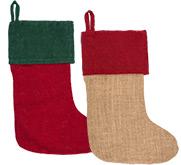Harvest Import Personalized Burlap Holiday Stocking