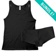 Bella + Canvas Ladies Tank Top & Underwear Sleepwear Set