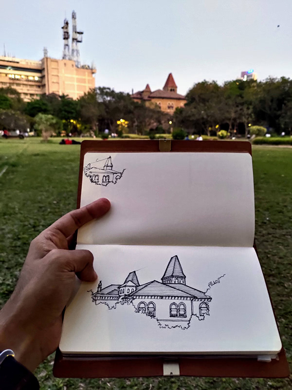 Ashwin's sketched postcards