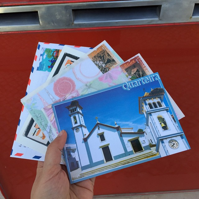 Mailing postcards
