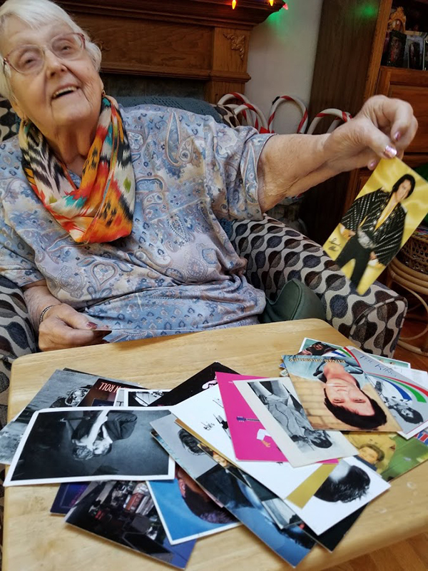 Elvis postcards that Becky's mom has received