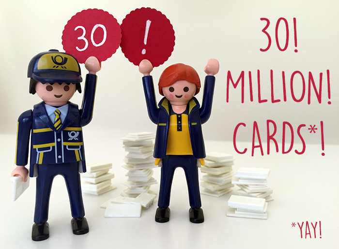 30 million postcards!