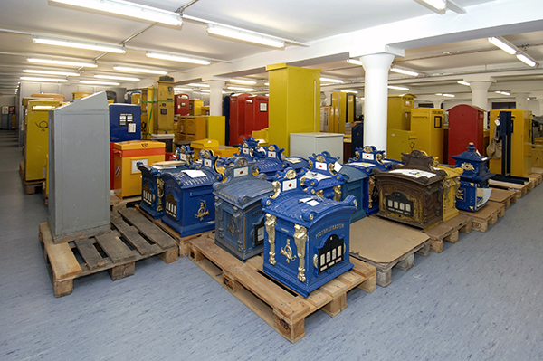 Mailboxes in storage