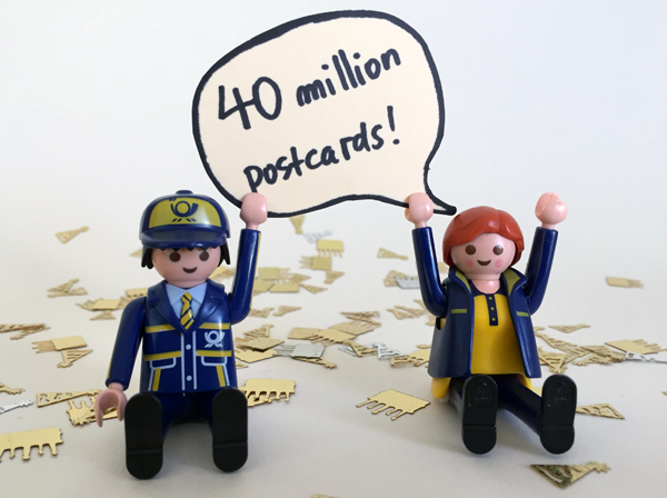 40! MILLION! POSTCARDS!
