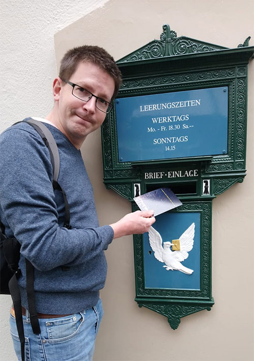 Visiting the Basel Dove postboxes