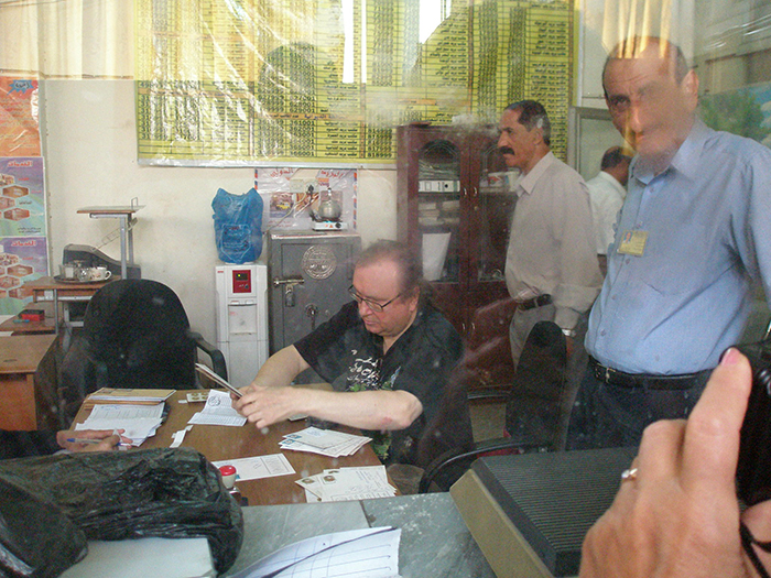 Inside the post office in Bagdad, Iraq.