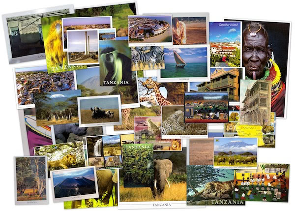 Postcards I have sent from Tanzania via Postcrossing